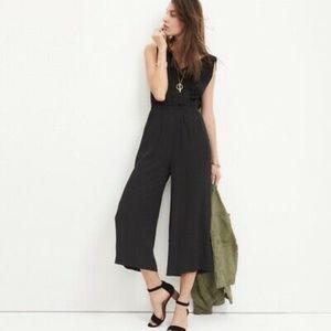 Madewell Starnight Jumpsuit Black Wide Leg Crop